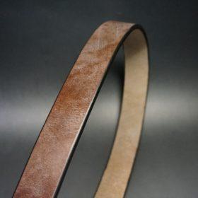 J.ベイカー社製ブライドルレザーのダークブラウン色の32mmベルト(クイックリリースバックル/シルバー色/Sサイズ)-1-3
