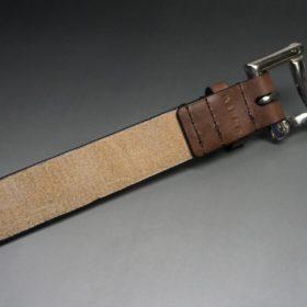 J.ベイカー社製ブライドルレザーのダークブラウン色の32mmベルト(クイックリリースバックル/シルバー色/Sサイズ)-1-7