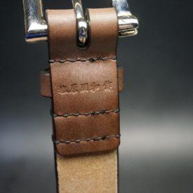 J.ベイカー社製ブライドルレザーのダークブラウン色の32mmベルト(クイックリリースバックル/シルバー色/Sサイズ)-1-8