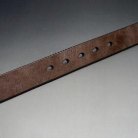 J.ベイカー社製ブライドルレザーのダークブラウン色の32mmベルト(クイックリリースバックル/シルバー色/Sサイズ)-1-9