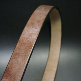 J.ベイカー社製ブライドルレザーのダークブラウン色の32mmベルト(クイックリリースバックル/シルバー色/Mサイズ)-1-3