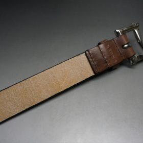 J.ベイカー社製ブライドルレザーのダークブラウン色の32mmベルト(クイックリリースバックル/シルバー色/Mサイズ)-1-7