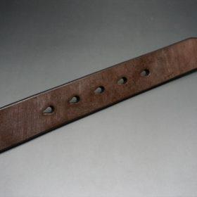 J.ベイカー社製ブライドルレザーのダークブラウン色の32mmベルト(クイックリリースバックル/シルバー色/Mサイズ)-1-9
