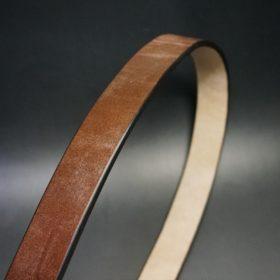 J.ベイカー社製ブライドルレザーのダークブラウン色の32mmベルト(クイックリリースバックル/シルバー色/Lサイズ)-1-3