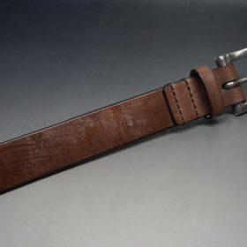 J.ベイカー社製ブライドルレザーのダークブラウン色の32mmベルト(クイックリリースバックル/シルバー色/Lサイズ)-1-6