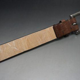 J.ベイカー社製ブライドルレザーのダークブラウン色の32mmベルト(クイックリリースバックル/シルバー色/Lサイズ)-1-7