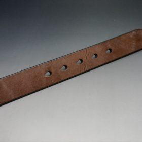 J.ベイカー社製ブライドルレザーのダークブラウン色の32mmベルト(クイックリリースバックル/シルバー色/Lサイズ)-1-9