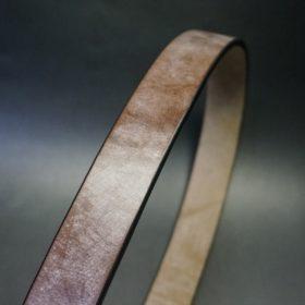 J.ベイカー社製ブライドルレザーのダークブラウン色の35mmベルト(ビジネス&カジュアルバックル/ゴールド色/LL)-1-3
