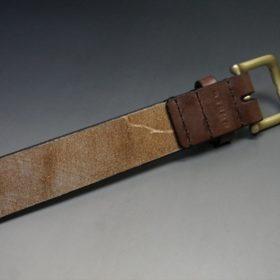J.ベイカー社製ブライドルレザーのダークブラウン色の35mmベルト(ビジネス&カジュアルバックル/ゴールド色/LL)-1-6