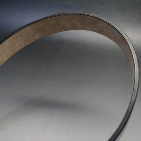 J.ベイカー社製ブライドルレザーのダークブラウン色の35mmベルト(ビジネス&カジュアルバックル/ゴールド色/LL)-1-9
