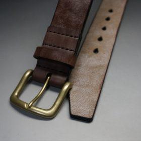 J.ベイカー社製ブライドルレザーのダークブラウン色の40mmベルト(ビジネス&カジュアルバックル/ゴールド色/S)-1-2