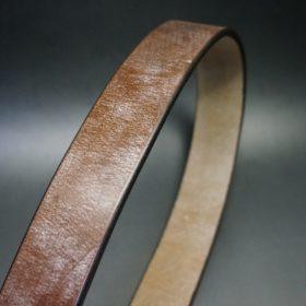 J.ベイカー社製ブライドルレザーのダークブラウン色の40mmベルト(ビジネス&カジュアルバックル/ゴールド色/S)-1-3