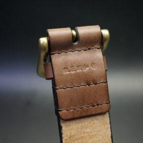 J.ベイカー社製ブライドルレザーのダークブラウン色の40mmベルト(ビジネス&カジュアルバックル/ゴールド色/S)-1-8