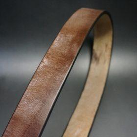 J.ベイカー社製ブライドルレザーのダークブラウン色の40mmベルト(ビジネス&カジュアルバックル/ゴールド色/M)-1-3