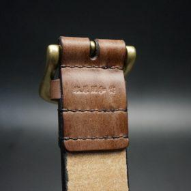 J.ベイカー社製ブライドルレザーのダークブラウン色の40mmベルト(ビジネス&カジュアルバックル/ゴールド色/M)-1-8