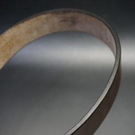 J.ベイカー社製ブライドルレザーのダークブラウン色の40mmベルト(ビジネス&カジュアルバックル/ゴールド色/L)-1-10