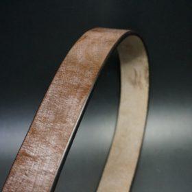J.ベイカー社製ブライドルレザーのダークブラウン色の40mmベルト(ビジネス&カジュアルバックル/ゴールド色/L)-1-3