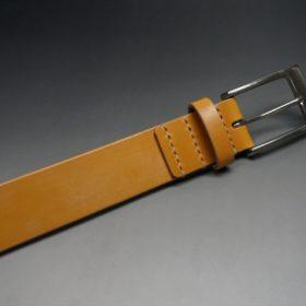 セドウィック社製ブライドルレザーのベンズ部位ロンドンタン色の35mmベルト(ビジネスバックル/シルバー色/L)-1-5