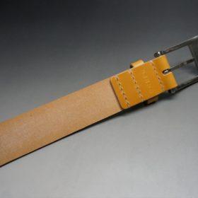 セドウィック社製ブライドルレザーのベンズ部位ロンドンタン色の35mmベルト(ビジネスバックル/シルバー色/L)-1-6