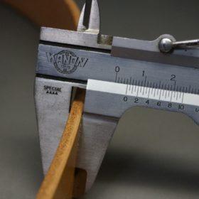 セドウィック社製ブライドルレザーのベンズ部位ロンドンタン色の35mmベルト(ビジネスバックル/シルバー色/S)-1-10