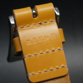 セドウィック社製ブライドルレザーのベンズ部位ロンドンタン色の35mmベルト(ビジネスバックル/シルバー色/S)-1-7