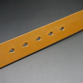セドウィック社製ブライドルレザーのベンズ部位ロンドンタン色の35mmベルト(ビジネスバックル/シルバー色/S)-1-8