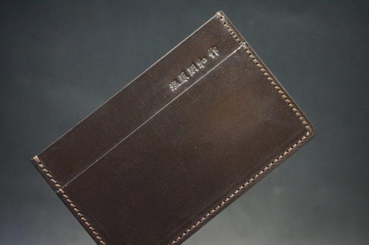 セドウィック社製ブライドルレザーのチョコ色のカードケース-1-1