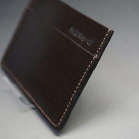 セドウィック社製ブライドルレザーのチョコ色のカードケース-1-3