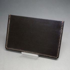 セドウィック社製ブライドルレザーのチョコ色のカードケース-1-4