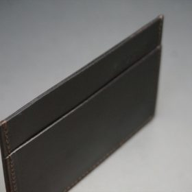 セドウィック社製ブライドルレザーのチョコ色のカードケース-1-6