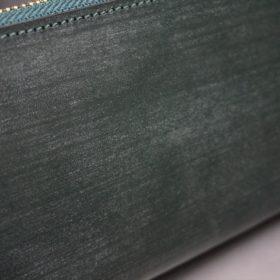 セドウィック社製ブライドルレザーのダークグリーン色のラウンドファスナー長財布(ゴールド色)-1-8
