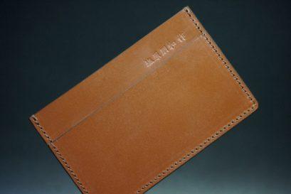 セドウィック社製ブライドルレザーのヘーゼルブラウン色のカードケース-1-1