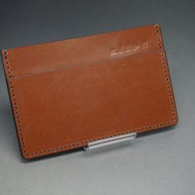 セドウィック社製ブライドルレザーのヘーゼルブラウン色のカードケース-1-2