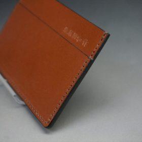 セドウィック社製ブライドルレザーのヘーゼルブラウン色のカードケース-1-3