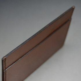 セドウィック社製ブライドルレザーのヘーゼルブラウン色のカードケース-1-6