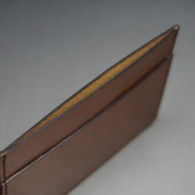 セドウィック社製ブライドルレザーのヘーゼルブラウン色のカードケース-1-7