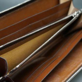 セドウィック社製ブライドルレザーのヘーゼルブラウン色のラウンドファスナー長財布(シルバー色)-1-14