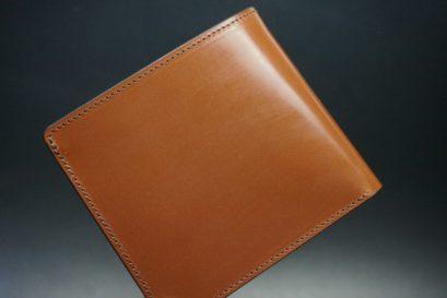 セドウィック社製ブライドルレザーのヘーゼルブラウン色の二つ折り財布(シルバー色)-1-1