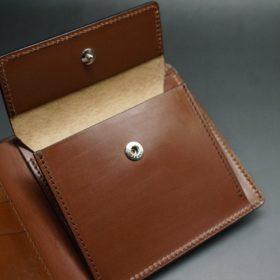 セドウィック社製ブライドルレザーのヘーゼルブラウン色の二つ折り財布(シルバー色)-1-10
