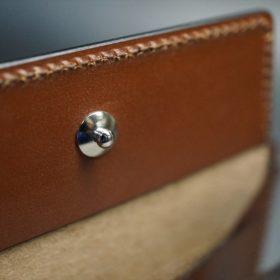 セドウィック社製ブライドルレザーのヘーゼルブラウン色の二つ折り財布(シルバー色)-1-12