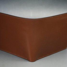 セドウィック社製ブライドルレザーのヘーゼルブラウン色の二つ折り財布(シルバー色)-1-2