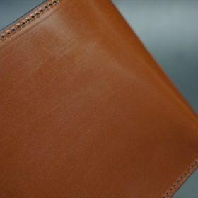 セドウィック社製ブライドルレザーのヘーゼルブラウン色の二つ折り財布(シルバー色)-1-3