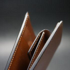 セドウィック社製ブライドルレザーのヘーゼルブラウン色の二つ折り財布(シルバー色)-1-4
