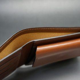 セドウィック社製ブライドルレザーのヘーゼルブラウン色の二つ折り財布(シルバー色)-1-5