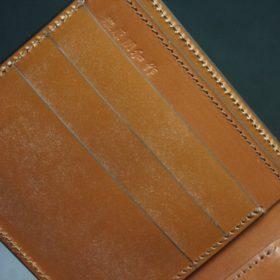 セドウィック社製ブライドルレザーのヘーゼルブラウン色の二つ折り財布(シルバー色)-1-7