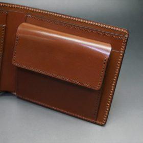 セドウィック社製ブライドルレザーのヘーゼルブラウン色の二つ折り財布(シルバー色)-1-8