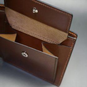 セドウィック社製ブライドルレザーのヘーゼルブラウン色の二つ折り財布(シルバー色)-1-9
