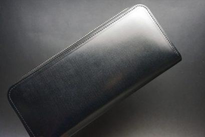 セドウィック社製ブライドルレザーのブラック色のラウンドファスナー長財布(内側サドル)-1-1