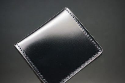 レーデルオガワ社製染料仕上げコードバンのブラック色の小銭入れ(ゴールド色)-1-1