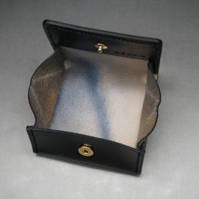 レーデルオガワ社製染料仕上げコードバンのブラック色の小銭入れ(ゴールド色)-1-7